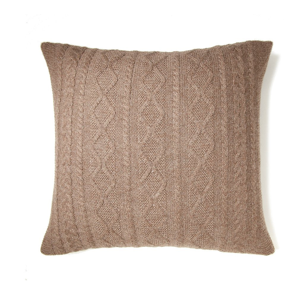 Howard Cable Square Pillow Fawn Eleish Van Breems Home