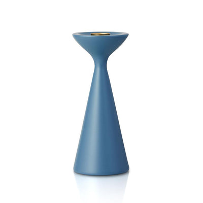 Inga Candlestick Medium Dove Blue Eleish Van Breems Home