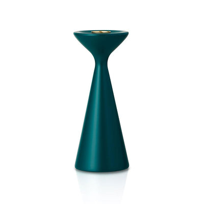 Inga Candlestick Medium Ocean Green Eleish Van Breems Home
