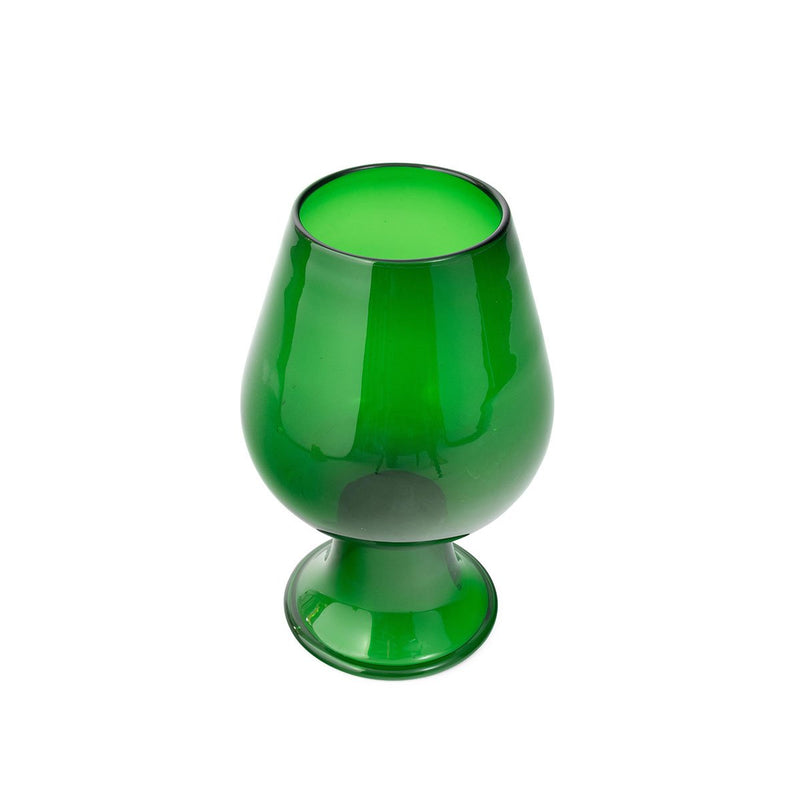 Italian Blown Green Glass Vase