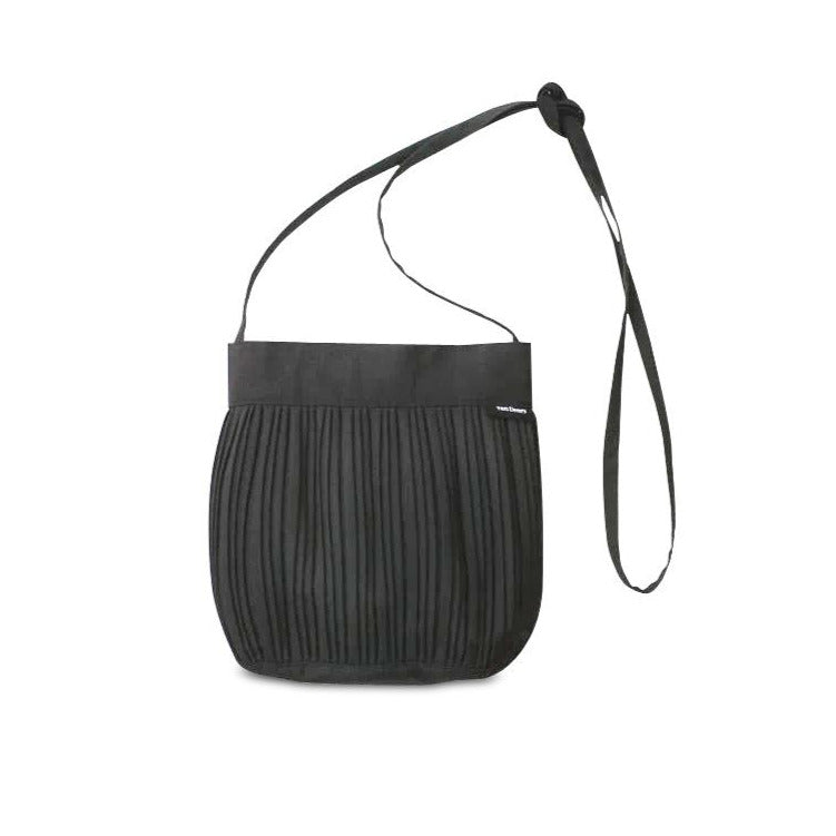 Small Black Wool Shoulder Bag
