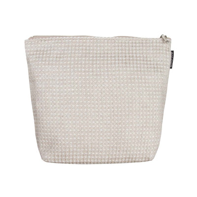 Large Linen Toiletry Bag Natural-White Eleish Van Breems Home