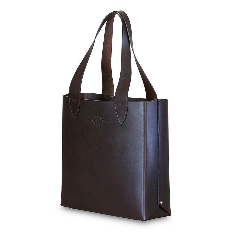 Leila Structured Tote Bag-Dark Chololate-Eleish Van Breems Home