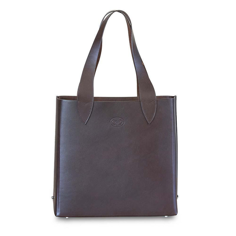 Leila Structured Tote Bag Dark Chololate Eleish Van Breems Home