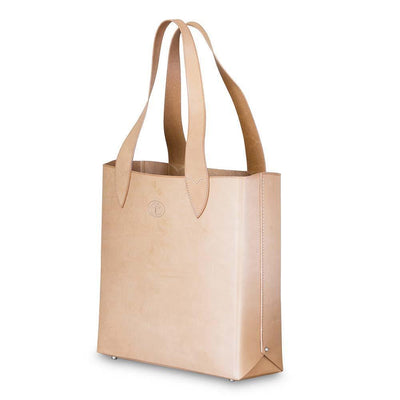 Leila Structured Tote Bag Natural Eleish Van Breems Home