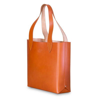 Leila Structured Tote Bag Orange Eleish Van Breems Home