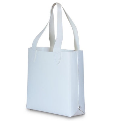 Leila Structured Tote Bag White Eleish Van Breems Home