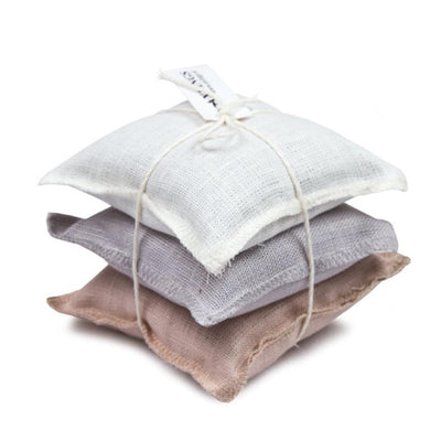 Linen Sachet Pillows Lavender Scent Light, Pink, Light Grey & White Eleish Van Breems Home