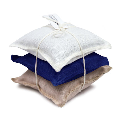 Linen Sachet Pillows Lavender Scent Marine, Natural & White Eleish Van Breems Home