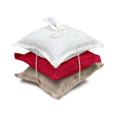Linen Sachet Pillows Lavender Scent Red Dahlia, Natural & White Eleish Van Breems Home