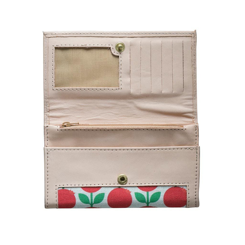 Lingonberry Leather Wallet-Eleish Van Breems Home