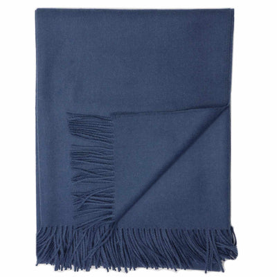 Madison Throw Classic Slate Blue Eleish Van Breems Home