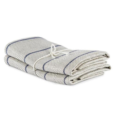 Marulk Tea Towels-Natural and Marine-Eleish Van Breems Home