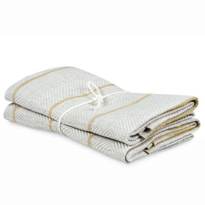 Marulk Tea Towels-Natural and Ochra Yellow-Eleish Van Breems Home