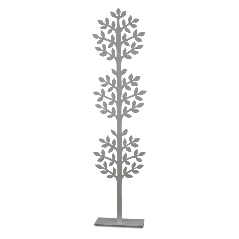 Metal Sculpture of Dandelion Tree in White Medium Eleish Van Breems Home