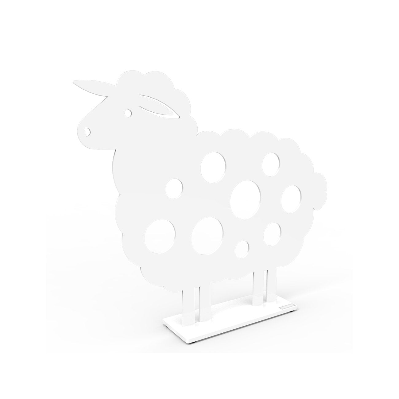 Metal Sheep Sculpture Medium White Eleish Van Breems Home