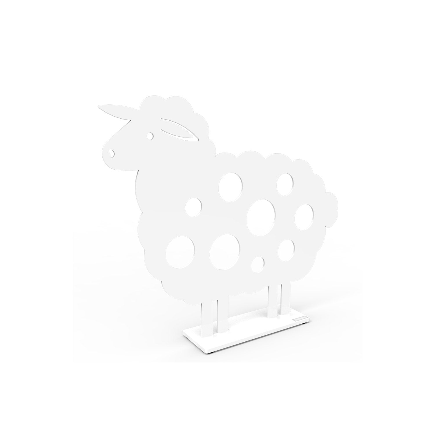Metal Sheep Sculpture Small White Eleish Van Breems Home