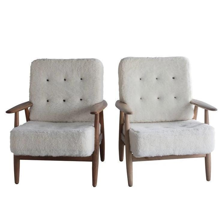 Pair of Hans Wegner Cigar Easy Chairs, Danish Mid Century Modern