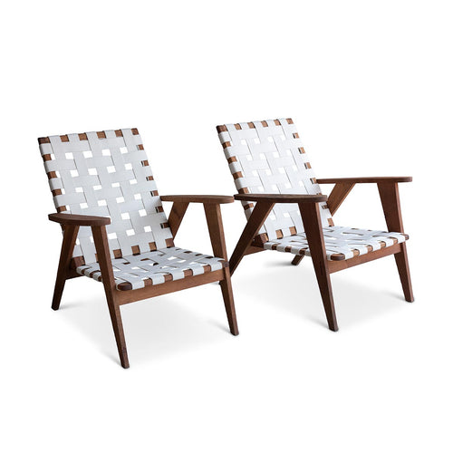 Pair of Mid-Century Webbed Chairs