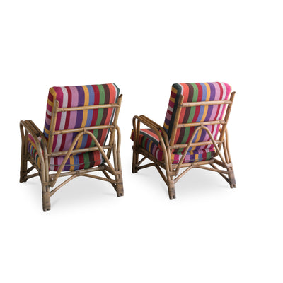 Pair of Swedish Bamboo Lounge Chairs, 1950's Eleish Van Breems Home