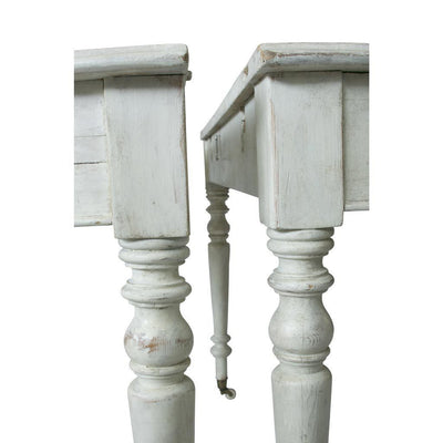 Pair of Swedish White Demi-Lune Console Tables, Mid 20th century Eleish Van Breems Home