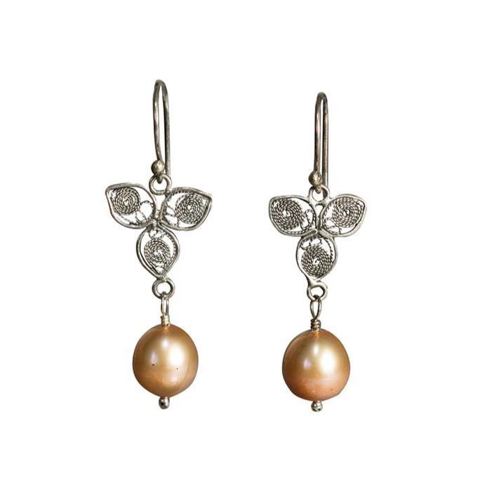 Pearl Leaf Earrings Eleish Van Breems Home