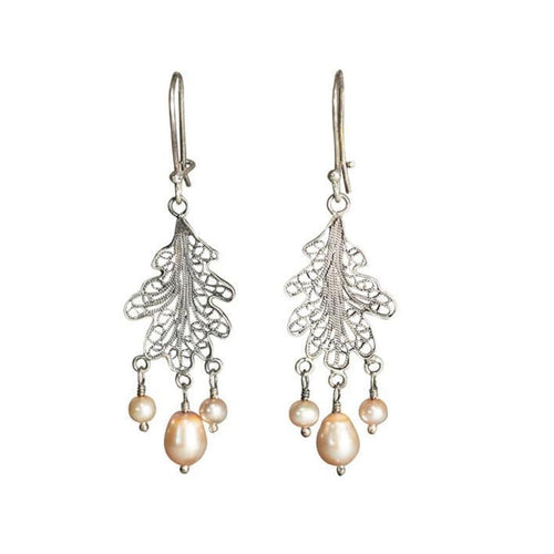 Pearl Oak Earrings