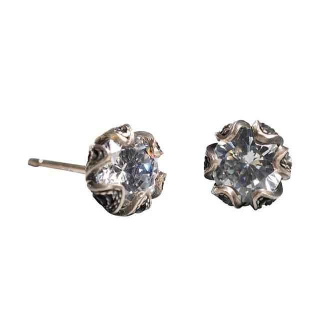 Petite Tulip Cubic Zirconia Stud Earrings (6mm)