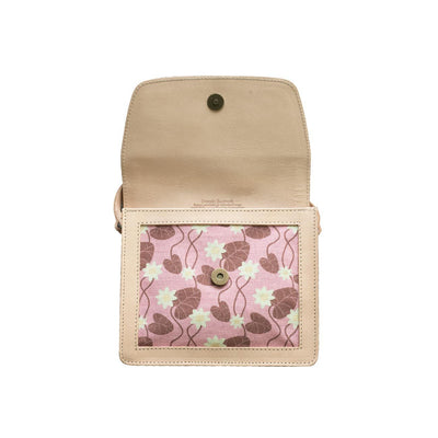 Pink Water Lily Leather Handbag Eleish Van Breems Home
