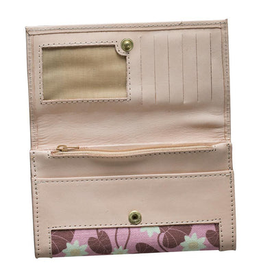 Pink Water Lily Leather Wallet Eleish Van Breems Home