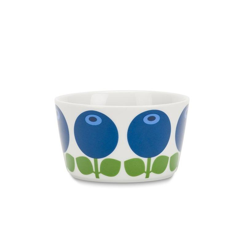Porcelain Bowl in Blueberry