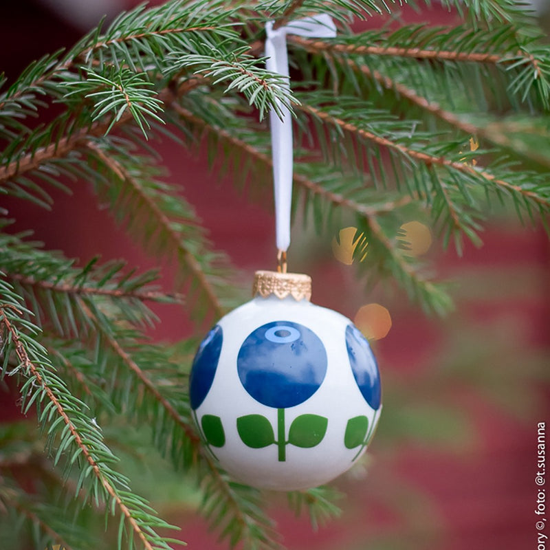 Porcelain Ornament in Blueberry