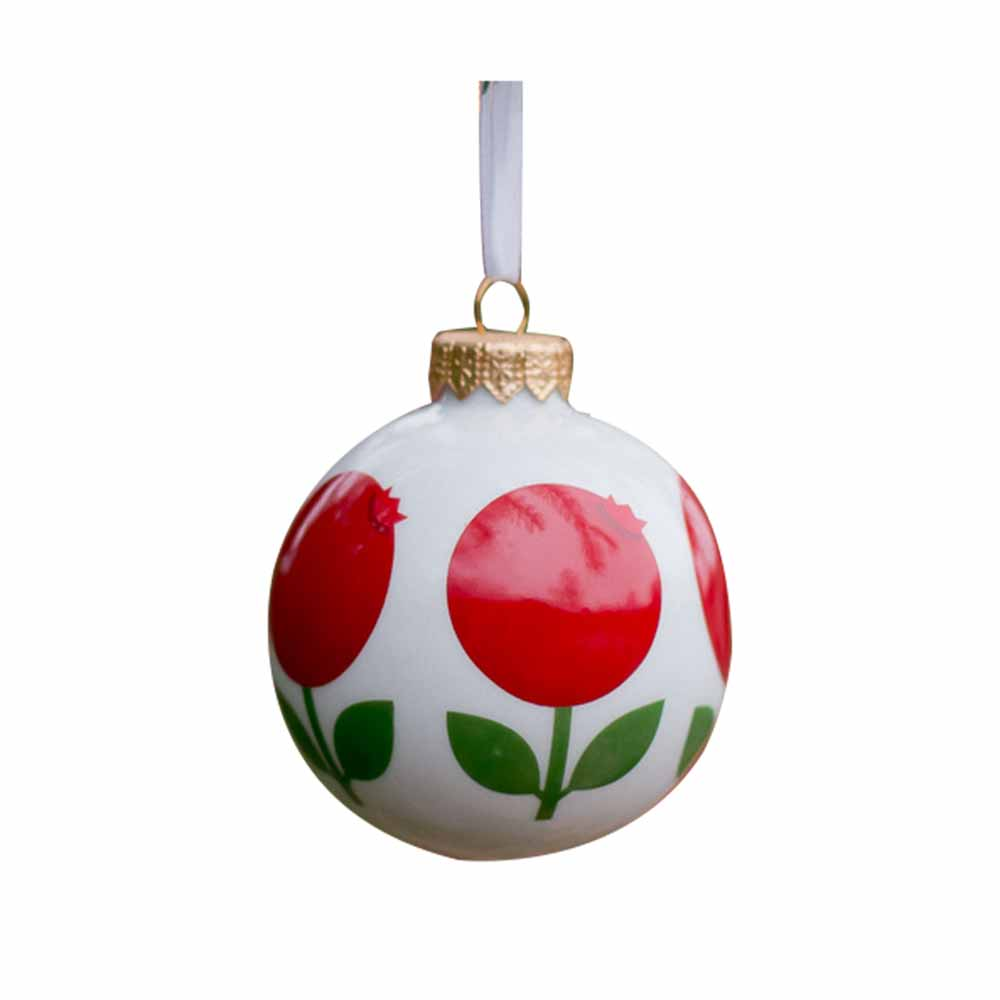 Porcelain Ornament in Lingonberry