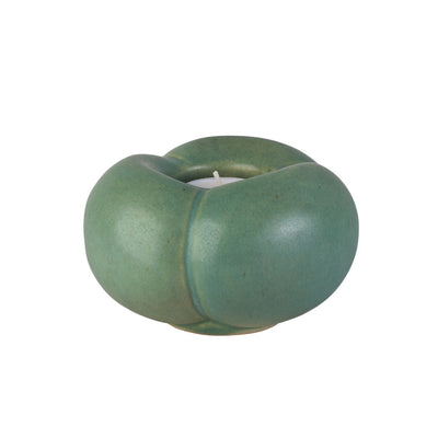 Pumpkin Clay Tealight Candle Holders Sea Green Eleish Van Breems Home