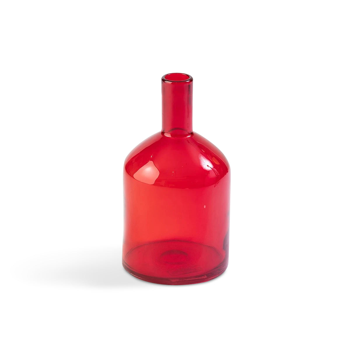 Red Blown Glass Bottle