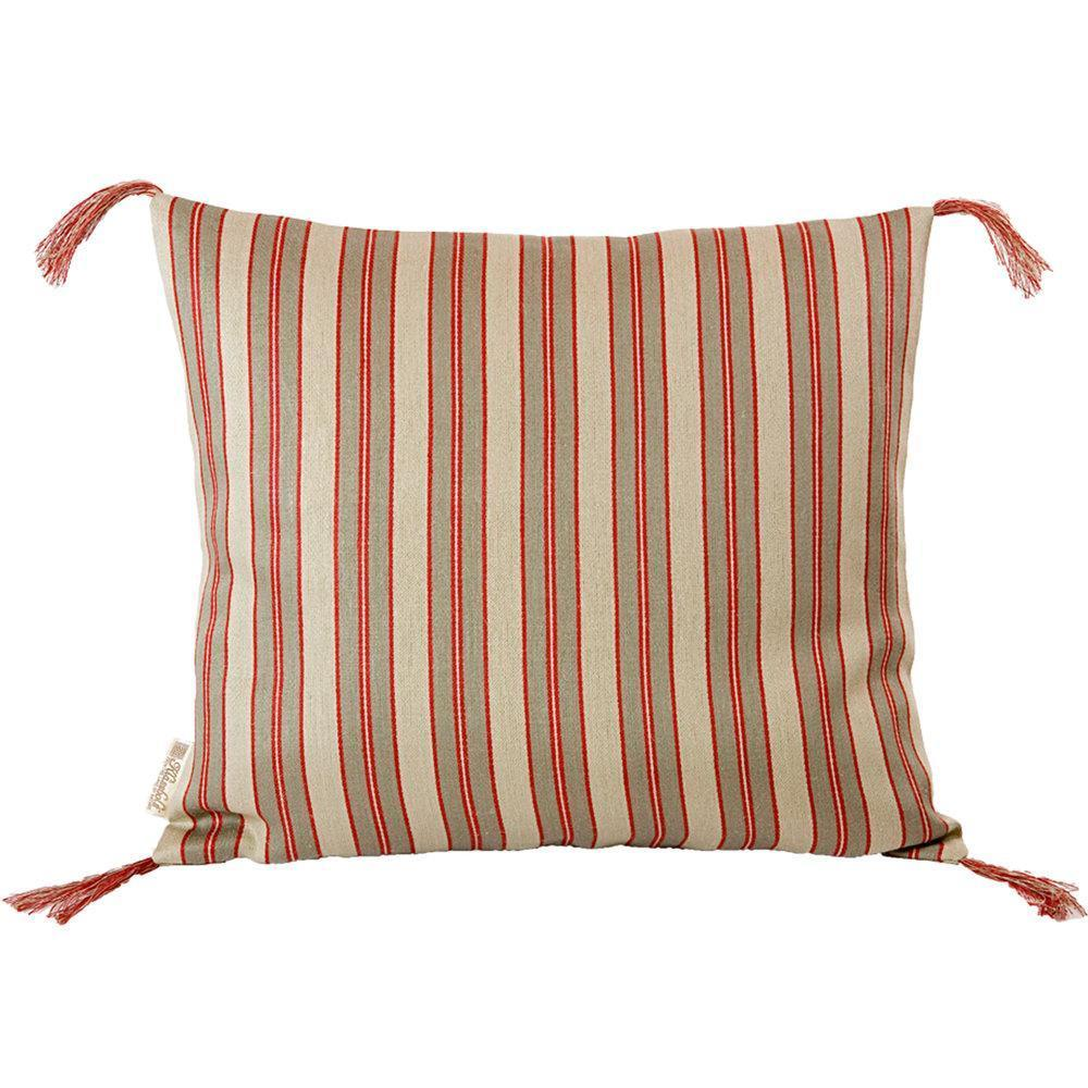 Red Stripe Linen Pillow Eleish Van Breems Home