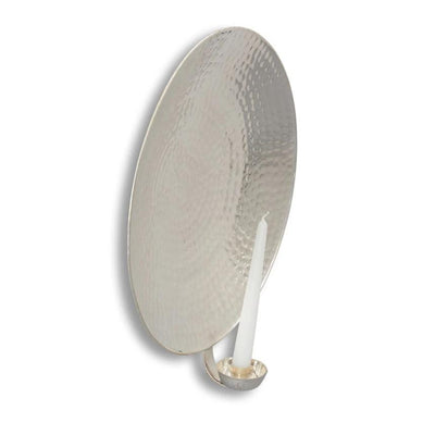 Round Silver-Plated Wall Sconce Large Eleish Van Breems Home