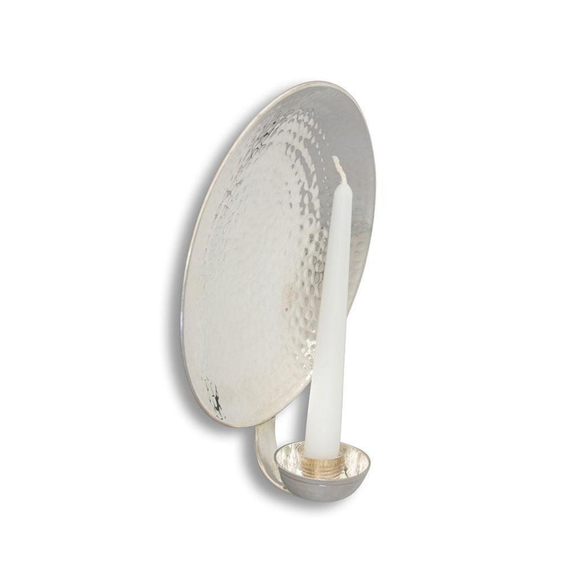 Round Silver-Plated Wall Sconce Small Eleish Van Breems Home