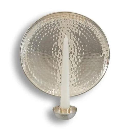Round Silver-Plated Wall Sconce Small