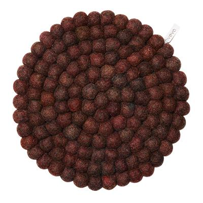 Round Wool Trivet, Large Berry Eleish Van Breems Home
