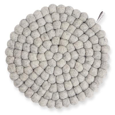 Round Wool Trivet, Large Raw Grey Eleish Van Breems Home