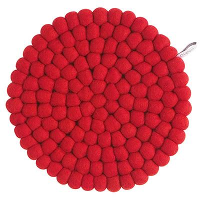 Round Wool Trivet, Large Red Eleish Van Breems Home