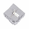 Rustic Fringe Napkin Light Grey Linen Eleish Van Breems Home