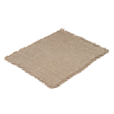 Rustic Placemat with Fringe-Natural-Eleish Van Breems Home