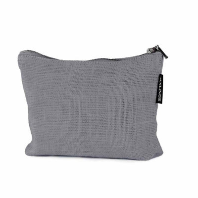 Small Linen Toiletry Bag Concrete Eleish Van Breems Home