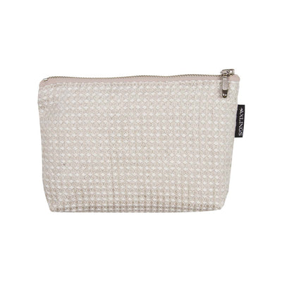 Small Linen Toiletry Bag Natural-White Eleish Van Breems Home