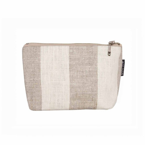 Small Striped Toiletry Bag