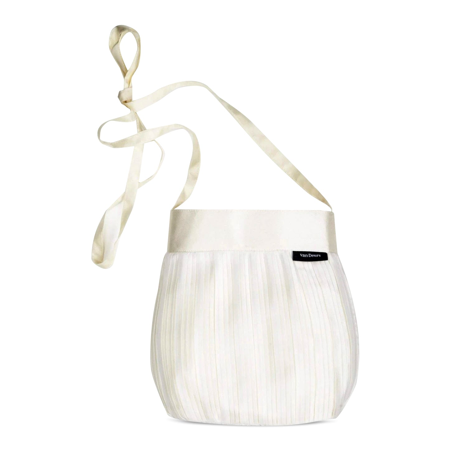 Small White Silk Shoulder Bag