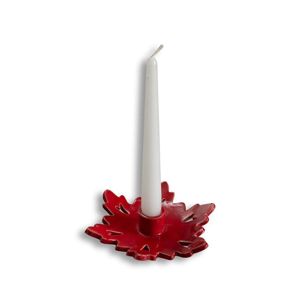 Stoneware Candle Holder Red Eleish Van Breems Home