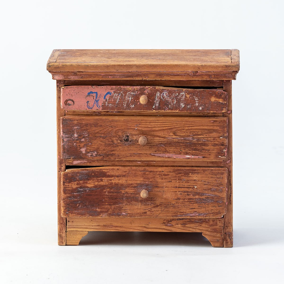 Swedish 19th c Cabinetmaker Sample Chest